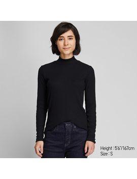 T Shirt Manches Longues CÔtelÉ Col Montant Femme by Uniqlo
