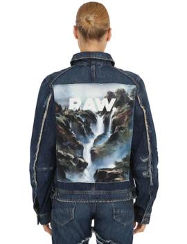 D Staq Printed Denim Jacket by G Star By Jaden Smith