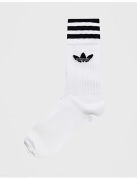 Adidas Originals 3 Pack White Socks by Adidas Originals