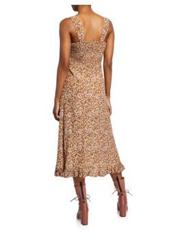 Yasmin Floral Print Sleeveless Midi Dress by Faithfull The Brand