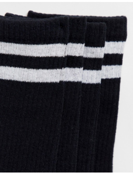 Jack & Jones 4 Pack Tennis Socks In Black by Jack & Jones