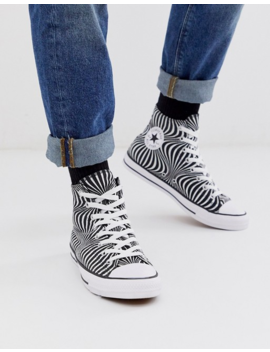 Converse Chuck Taylor Psychedelic Print Trainers In Black/White by Converse