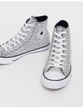 Converse All Star Chuck Taylor High Top Plimsolls In Grey Print by Converse
