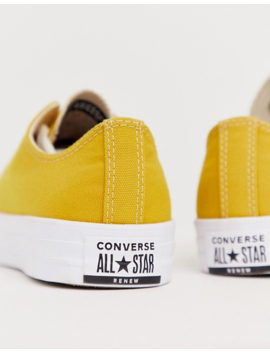 Converse Renew Chuck Taylor All Star Trainers In Yellow by Converse