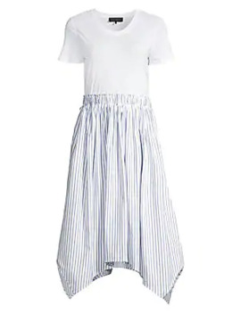 Short Sleeve A Line Dress by Donna Karan New York