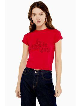 Je Ne Sais Quoi T Shirt by Topshop
