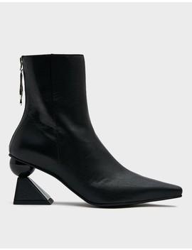 Amoeba Glam Heel Boot In Black by Yuul Yie