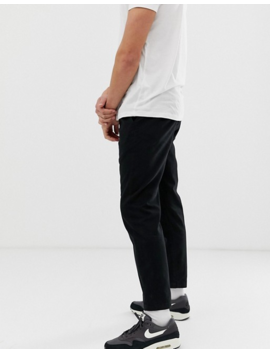 D Struct Elastic Waist Cropped Chino Trousers by Chinos