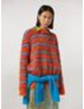 Fur Effect Striped Mohair Sweater by Marni