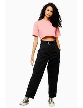 Black D Ring Utility Trousers by Topshop