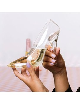 Thumbs Up Stiletto Drinking Glass   High Heel Shoe Wine Glass Champagne Glass by Novelty