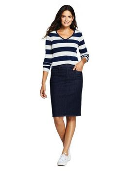 womens-denim-pull-on-pencil-skirt by lands-end