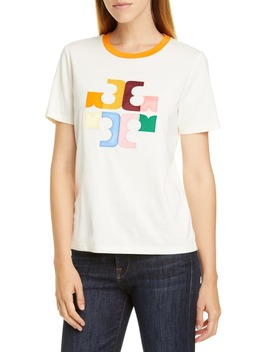 Colorblock Logo Tee by Tory Burch