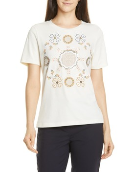 Embroidered Logo Tee by Tory Burch