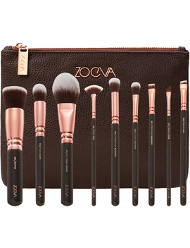 Rose Golden Brush Collection + Clutch Set by Zoeva