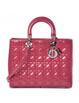 Christian Dior Patent Cannage Large Lady Dior Pink by Christian Dior