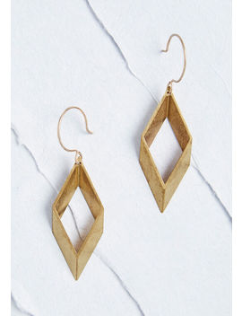 Lovely Angles Geometric Earrings by Modcloth