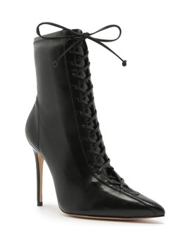 Tennie Pointed Toe Lace Up Boot by Schutz