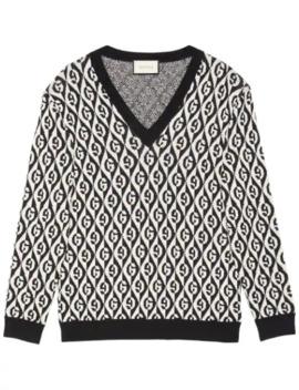 Jacquard G Motif Knit Jumper by Gucci