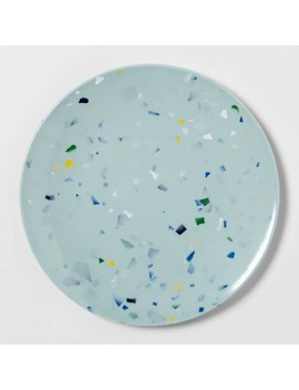 "10.5"" Melamine Mixed Shapes Dinner Plate Blue   Room Essentials by Room Essentials"