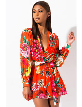 The Way You Move Long Sleeve Romper by Akira