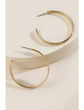 Wendy Gold Hoop Earrings by Francesca's