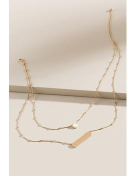 Alanna Brushed Bar Layered Necklace by Francesca's