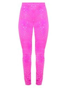 Hot Pink High Waisted Glitter Mesh Trouser by Prettylittlething