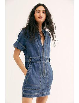 Dream On Denim Mini Dress by Free People