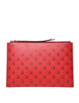 Gucci Calfskin Gucci Ghost Skull Pouch Red by Gucci