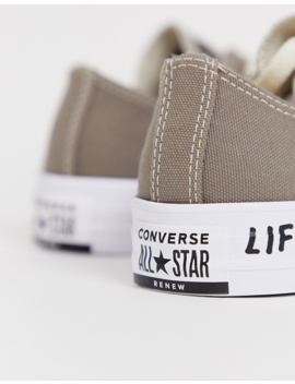 Converse Gray Chuck Taylor Ox All Star Renew Recycled Sneakers by Converse