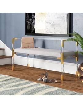 Grey Blanchard Upholstered Bench by Willa Arlo Interiors