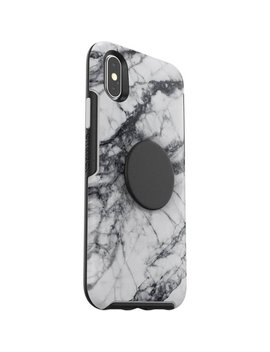 Otter + Pop Symmetry Series Case For Apple® I Phone® X And Xs   White Marble by Otter Box