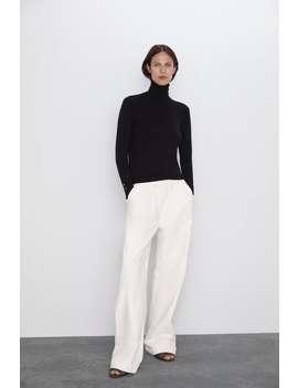 Basic Turtleneck Sweater High Neck Knitwear Woman by Zara