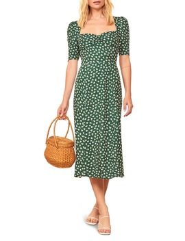 Matin Ruched Neck Midi Dress by Reformation