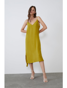 Flowy Dress Midi Dresses Woman by Zara
