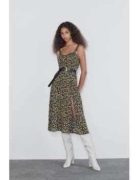Printed Midi Dress View All Dresses Woman by Zara