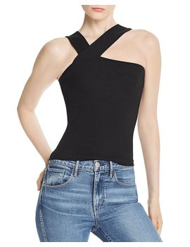 Ziggy Asymmetric Rib Knit Top by Lna