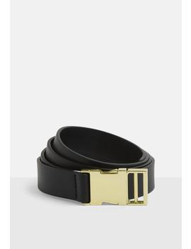 Black Seatbelt Buckle Waist Belt by Missguided