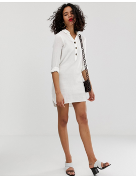 Vero Moda Button Through Longline Shirt Dress by Vero Moda