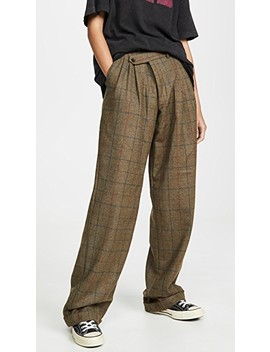Triple Pleat Crossover Trousers by R13