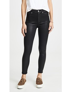 High Waisted Skinny Jeans With Faux Pockets by 7 For All Mankind