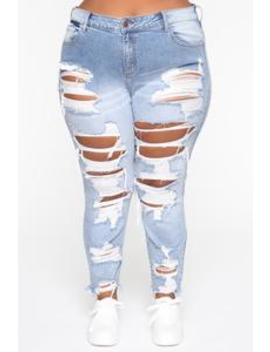 You're Not Relevant Skinny Jeans   Light Blue Wash by Fashion Nova