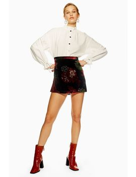 Burnout Print Mini Skirt By Band Of Gypsies by Topshop