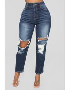 mama-got-game-high-rise-jeans---dark-denim by fashion-nova
