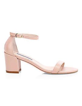 Simple Patent Leather Sandals by Stuart Weitzman