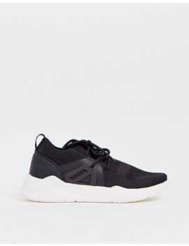 Asos Design Discipline Knitted Sneakers In Black by Asos Design