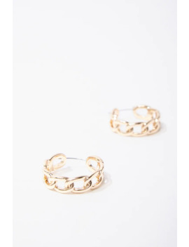Curb Chain Hoop Earrings by Forever 21