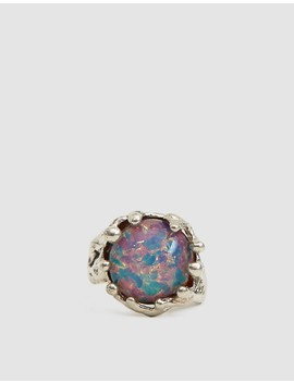 Silver Magician Ring In Pink Opal by Mondo Mondo