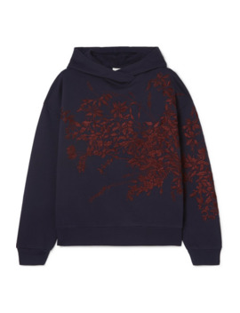 Harlee Embroidered Cotton Jersey Hoodie by Dries Van Noten